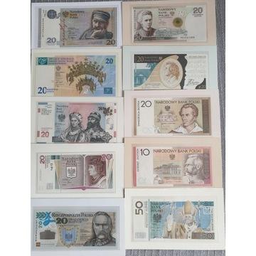 Komplet banknotów kolekcjonerskich 2006 - 2018