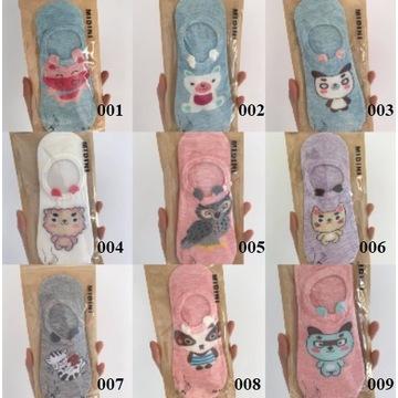 Kolorowe bawełniane skarpetki w kolorowe MIX
