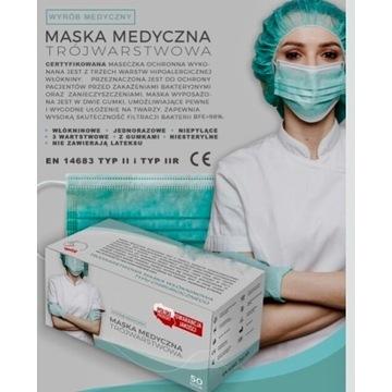 Maska medyczna POLSKI PRODUCENT!!!!!!!! 10.TYS SZT