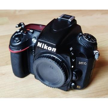 Nikon Body D610, przebieg 50 tys. + 2x karta SD