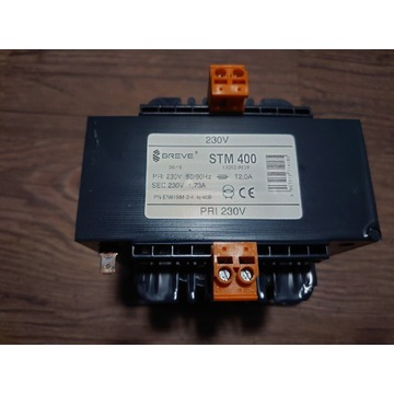 Transformator separacyjny STM 400 230/230 1,73A