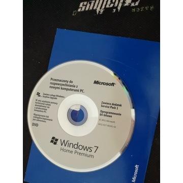 oryginalny nośnik instalacyjny DVD Windows 7 Home