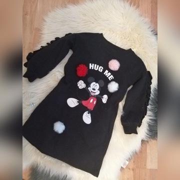 Reserved 116 sukienka dresowa Myszka Disney