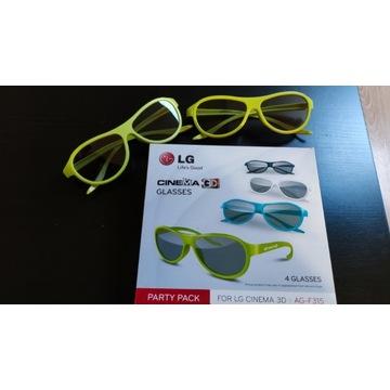Okulary 3D LG Cinema AG-F315 oryginalne 6 sztuk