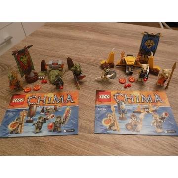 Lego Chima 70231 70229 kpl Plemię krokodyli i lwów