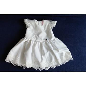 Sukienka do chrztu La Mere  + bloomersy rozm. 68