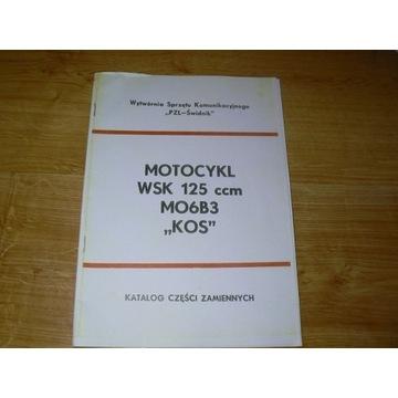 Katalog części zamiennych do WSK KOS