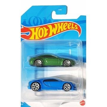 Hot wheels 2-pak Bugatti Chiron Aston Martin GTT30