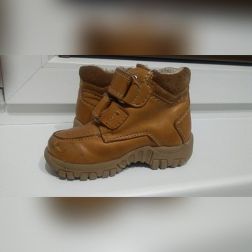 Skórzane buty zimowe chłopięce 21 ciepłe wygodne