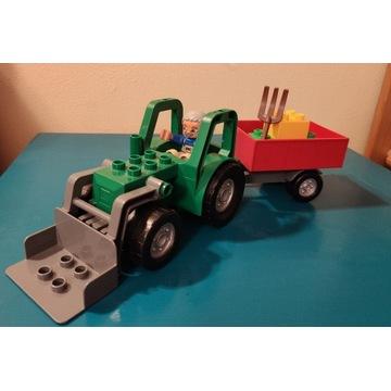 Lego Duplo zielony traktor z przyczepą 4687