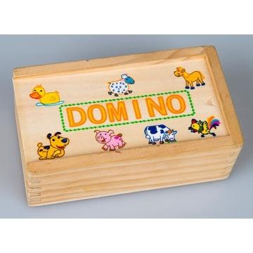 Domino dziecięce drewniane 1+