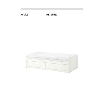 Łóżko Brimnes z Ikei razem z materacem