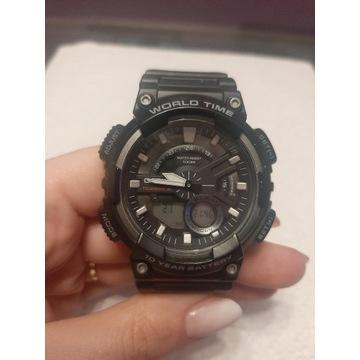 Męski czarny zegarek Casio Gerton Aeq110W1A!!!