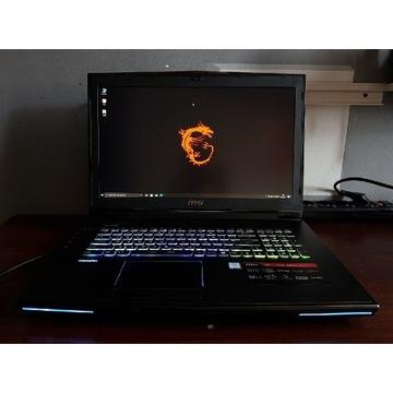 Potężny laptop MSI GT72 GTX 970 I7 32GB RAM SSD512