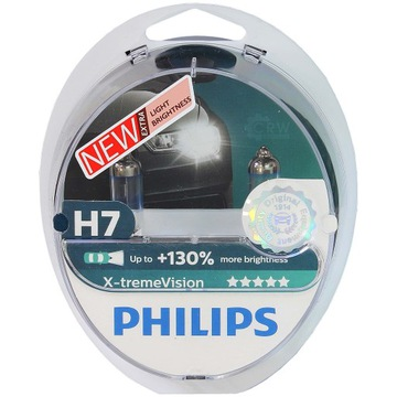 Żarówki halogenowe H7 Philips X-treme Vision +130%
