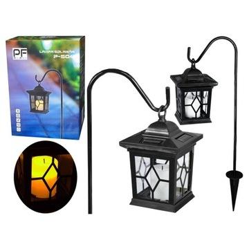 LAMPA SOLARNA LED LATARENKA do ogrodu wisząca