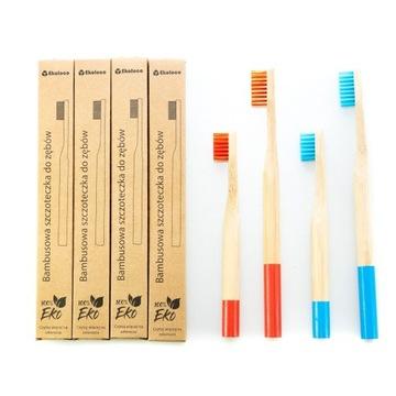 Zestaw rodzinny 2+2 bambusowe szczoteczki