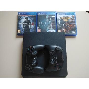 PlayStation 4 slim 500gb-2 pady,3 gry i gwarancja!