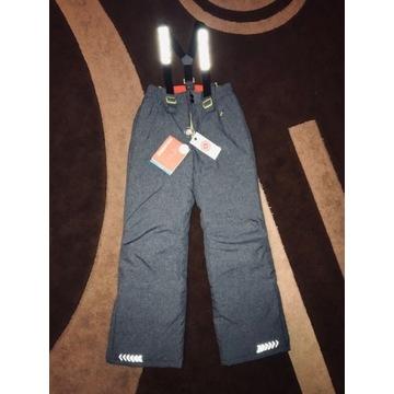 Spodnie Ciepłe Zimowe Smowboard Sanki 158 cm