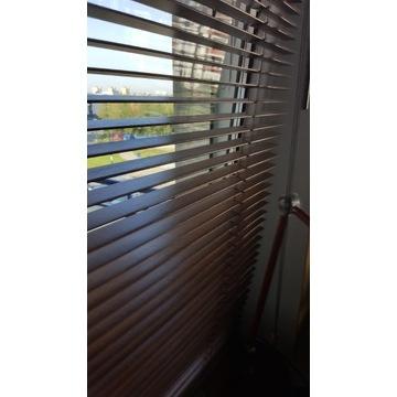 Żaluzje drewniane 3 szt. + 1 szt. balkonowa