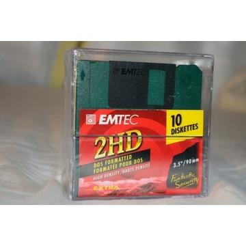 """Dyskietki 3,5"""" Emtec 1,44 MB Po 10 szt Nowe"""