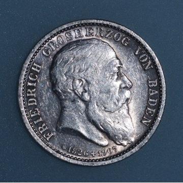 2 marki 1907 Badenia, pośmiertna
