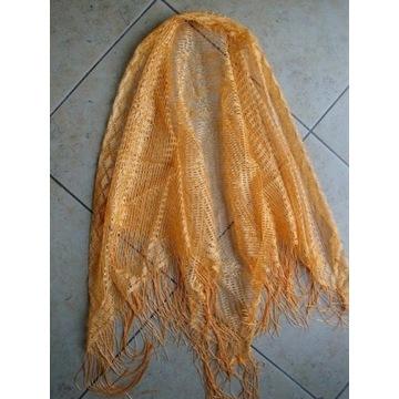Narożna ażurowa chusta 110/150 + frędzle 15 cm
