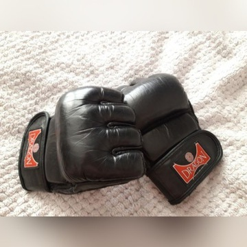 Skórzane rękawice do MMA Dragon czarne