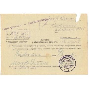 Sandomierz - stempel prowizoryczny 1946 r.