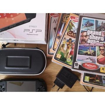 Konsola Sony PSP Street E-1004 + 6 gier