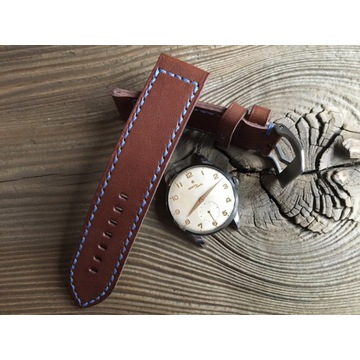 Pasek do zegarka ręcznie robiony skóra 24 mm