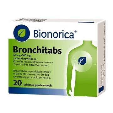 Bronchitabs,, tabletki powleka wykrztuśna
