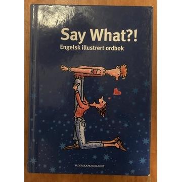 SAY WHAT (słownik ilustrowany angielsko-norweski)