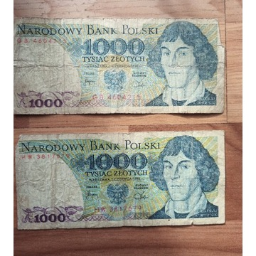 Banknoty PRL 1000 zł Kopernik