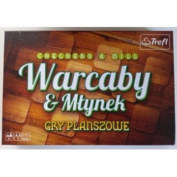 Warcaby & Młynek Trefl nowe/rozpakowane