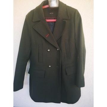 Reserved płaszcz khaki 50% wełny XL