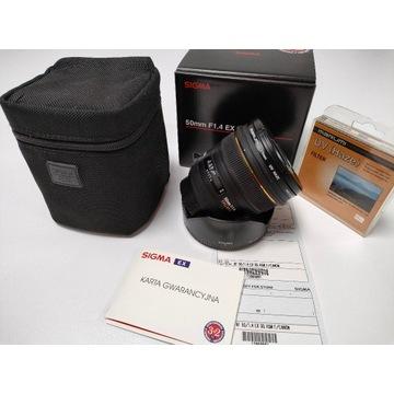 Obiektyw Sigma 50mm 1.4 EX DG HSM