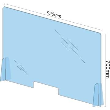 Osłona na biurko BHP ochronna plexi poliwęglan