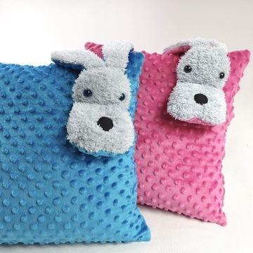 Poduszka piesek minky dla dzieci 40x40 pies