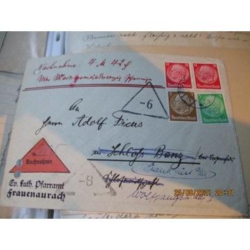 koperta NIEMCY DEUTSCHES REICH znaczki