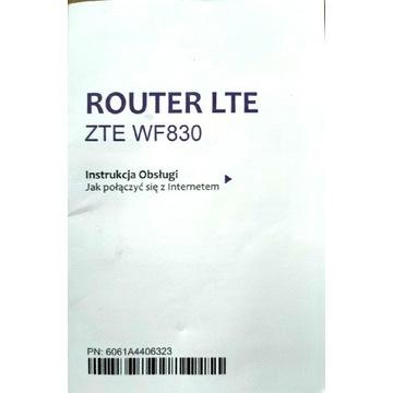 Zewnętrzny modem z routerem ZTE WF 830