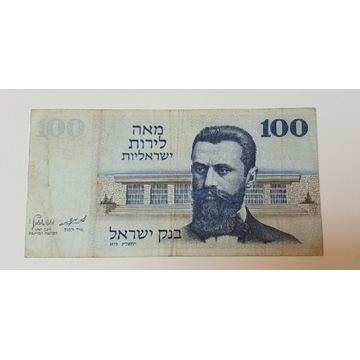 100 Lirot /Lira  - 1973 stan 3- oryginalny banknot