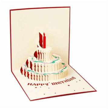 Kartka urodzinowa 3D TORT