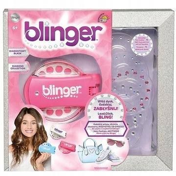 Blinger -przyrząd do stylizacji-różowy i niebieski
