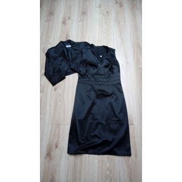 Sukienka bolerko eleganckie rozmiar 40