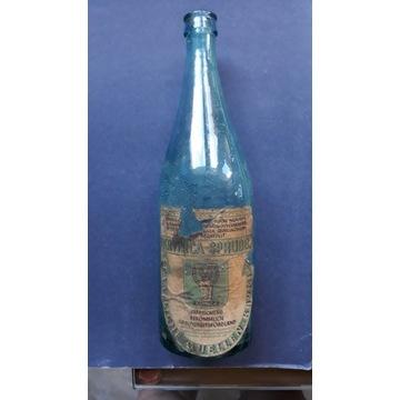 Butelka ,etykieta woda mineralna z Krynicy oryg.