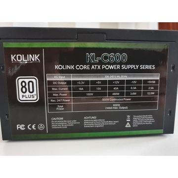 Zasilacz Kolink Core 600W 80 Plus