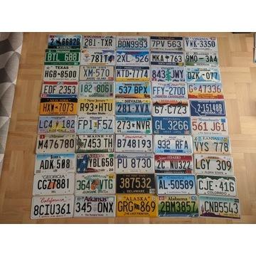 Tablice rejestracyjne ze wszystkich 50 stanów USA!