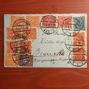 Całość pocztowa Deutsches Reich 1923