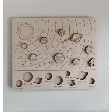 Układanka MONTESSORI kosmos UKŁAD SŁONECZNY drewno